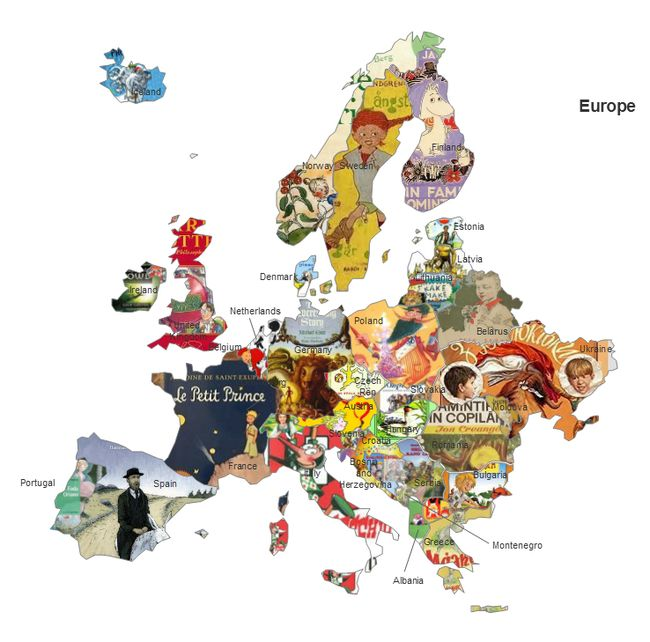 Map Of Europe Without France.Discover Europe Through Fairytales The Day Newspaper