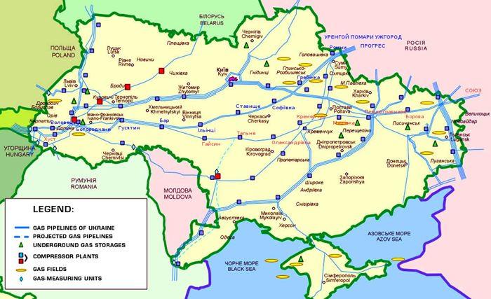 Ukraine Natural Gas Pipelines