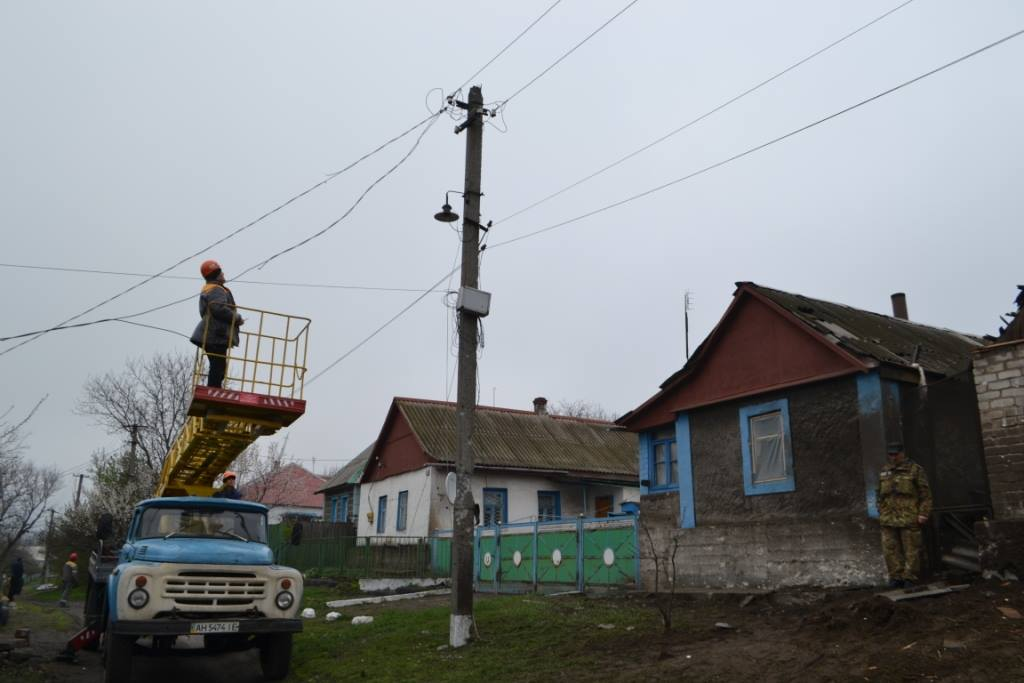 Боевики гарантировали режим тишины для ремонта ЛЭП под Авдеевкой