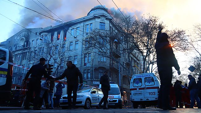 В центре Одессы горел дом-памятник архитектуры