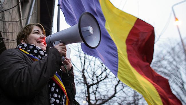 ВРумынии около 10 тыс. человек вышли наантикоррупционный марш