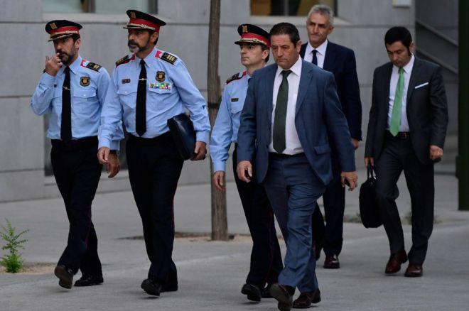 Каталонский глава милиции предстал перед судом вМадриде