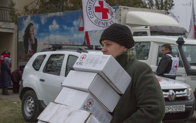Червоний Хрест направив наДонбас понад 200 тонн гуманітарної допомоги