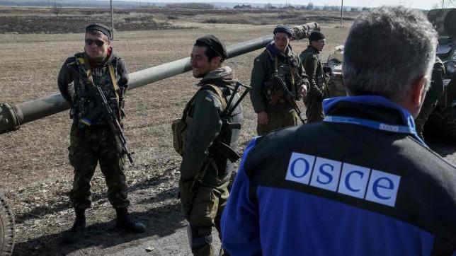 ОБСЕ заявляет обограничении доступа кучасткам разведения сил вДонбассе