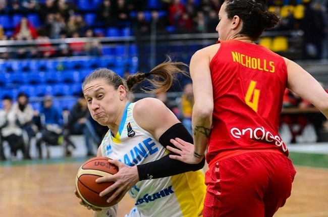 Украинские баскетболистки вКиеве уступила испанкам вотборе наЧЕ