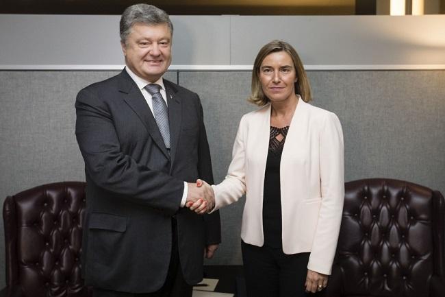 Порошенко і Могеріні скоординують позиції щодо виборів уКриму