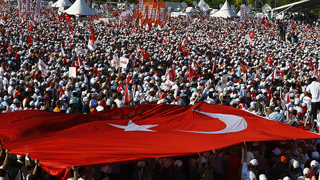 Губернатор Стамбула: В «Митинге справедливости» приняли участие порядка 175 тыс. человек