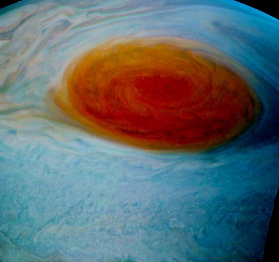 НАСА оприлюднило фото Великої червоної плями наЮпітері