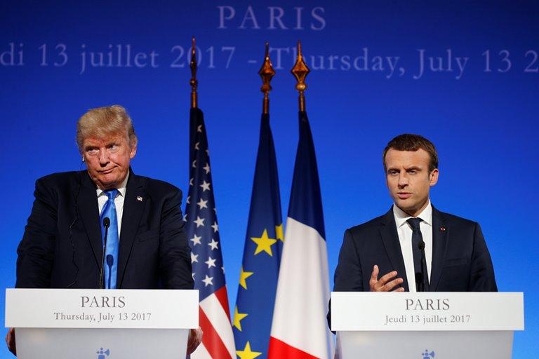 Макрон: Трамп подумает обучастии вПарижском соглашении поклимату