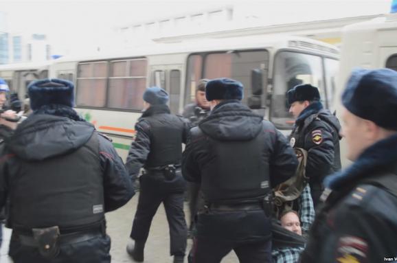 В столице прошла акция вподдержку русского политзаключенного Ильдара Дадина