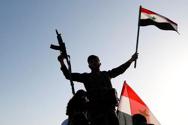 Кадры перехвата ракет Коалиции США, нацеленных наДамаск— Ответ агрессору