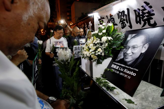 ВКитайской народной республике  прах правозащитника ЛюСяобо развеяли над морем