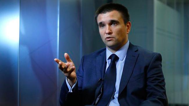 Клімкін заявив про розбіжності зРосією щодо миротворців ООН тазвільнення заручників