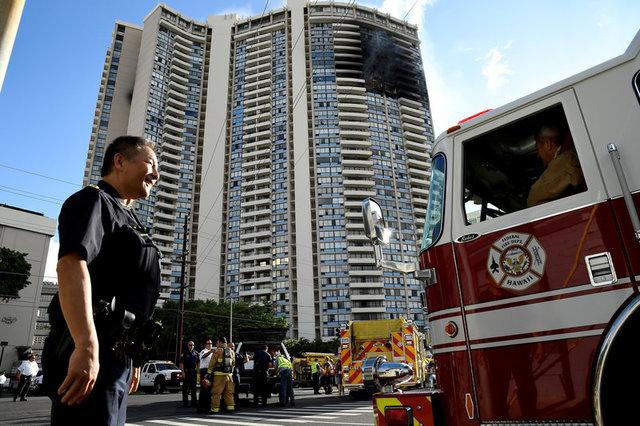 Встолице Гавайев вжилой высотке вспыхнул пожар