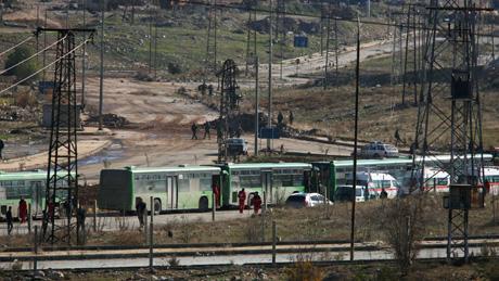 Третий конвой выехал изАлеппо для эвакуации людей