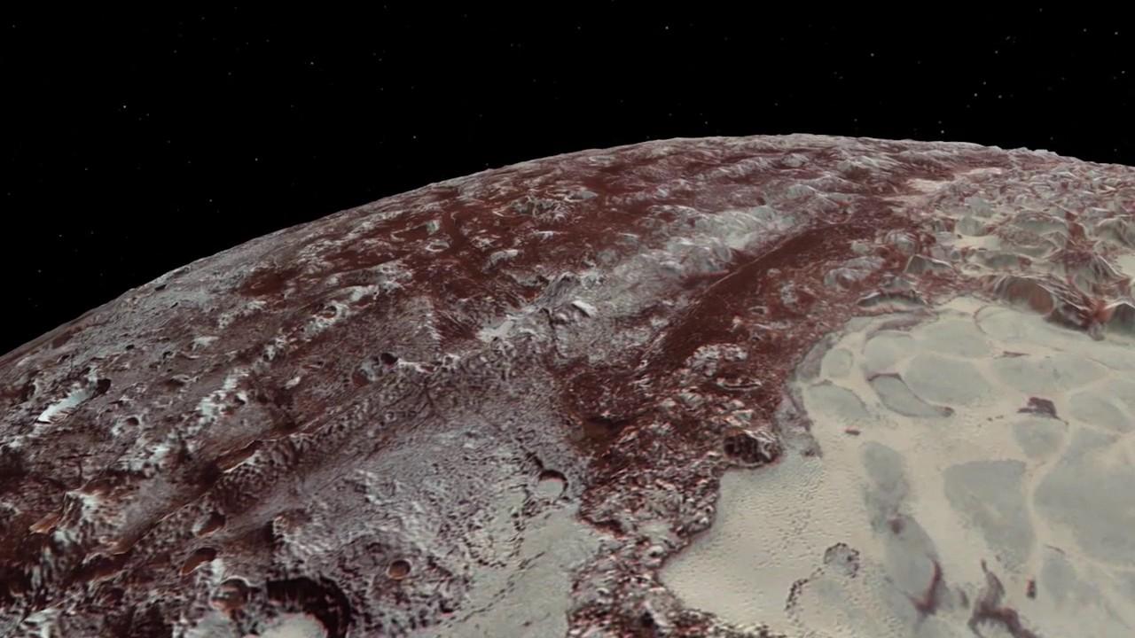 НАСА опубликовало очень интересные кадры, имитирующие экскурсию поПлутону
