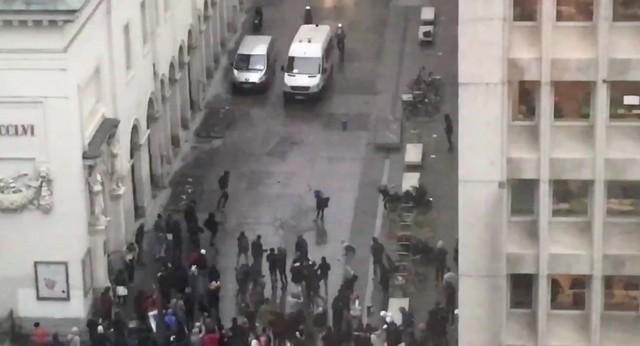 СМИ говорили о массовых беспорядках вБрюсселе