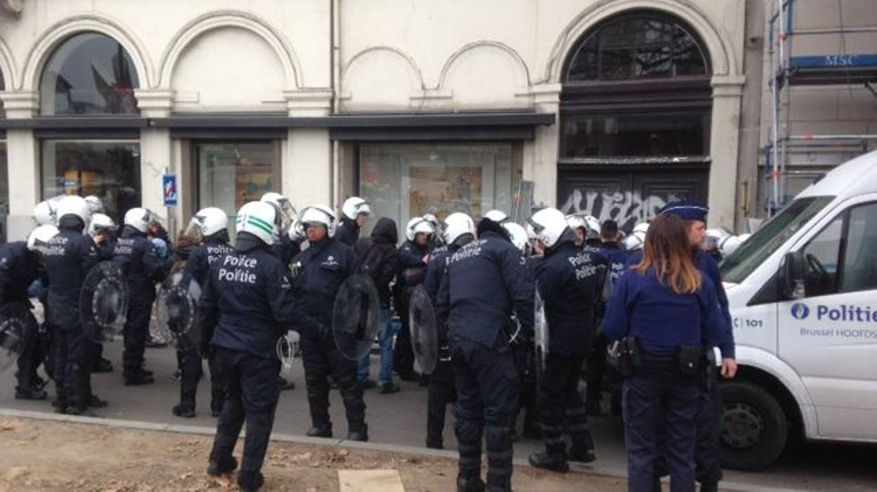 ВБрюсселе задержали 70 демонстрантов, устроивших беспорядки