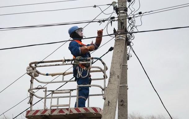 Непогода оставила без света более 120 населенных пунктов впяти областях Украины