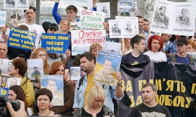 У Києві відбувся марш на підтримку українських військовополонених на сході  України (7.82 30) 1d4c10d23934f