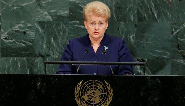 Делегація Росії вООН вийшла із залу перед промовою президента Литви