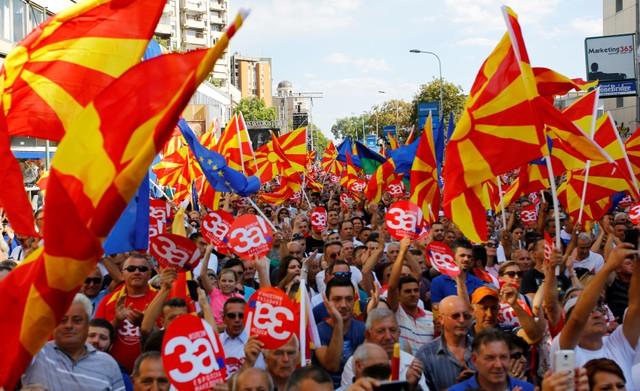Макрон призвал македонцев поддержать на референдуме смену названия страны