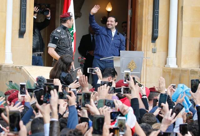 Объявивший оботставке премьер Ливана Саад Харири прибыл вБейрут