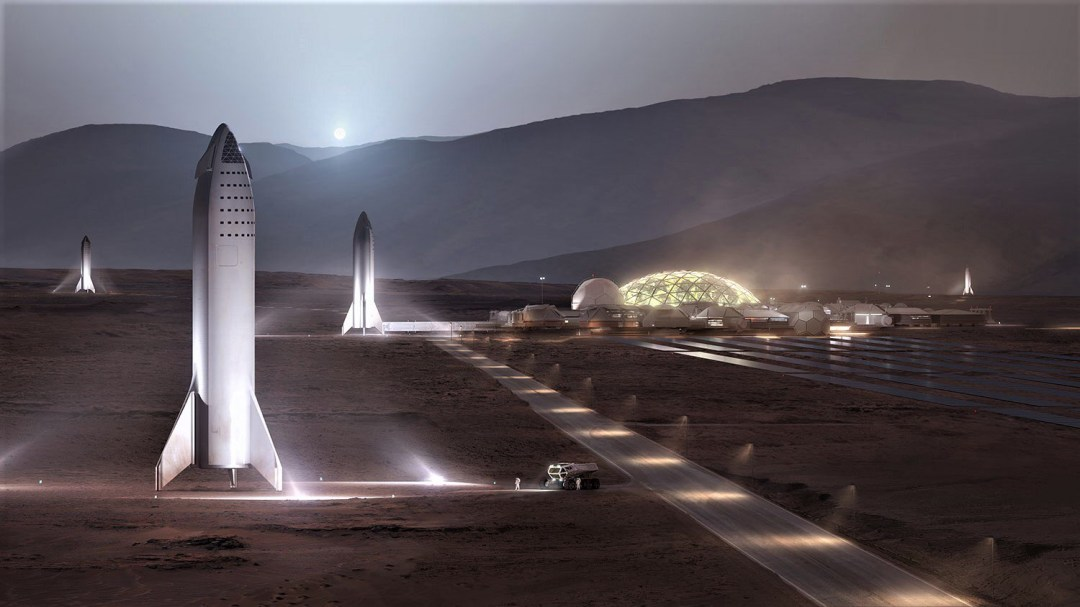 Маск показал, как будет выглядеть база «Альфа» на Марсе