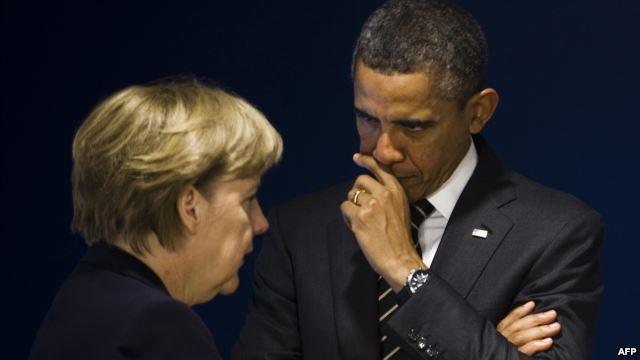 Обама обсудит сМеркель Сирию и государство Украину