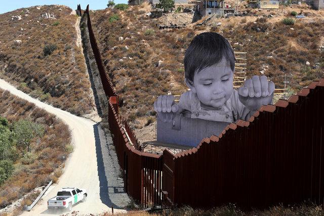 ВСША біля мексиканського кордону почали зводити прототипи стіни