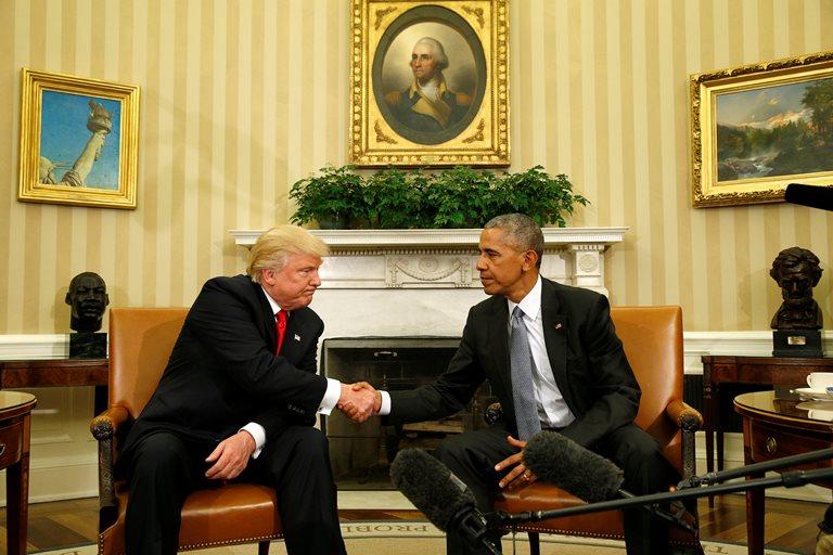 Трамп часто проводит консультации сОбамой