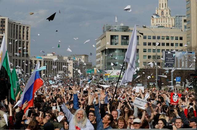 У Москві на проспекті Академіка Сахарова відбувся офіційною санкціонований  владою мітинг за вільний інтернет та на захист месенджера Telegram 509fd40ad6f1f