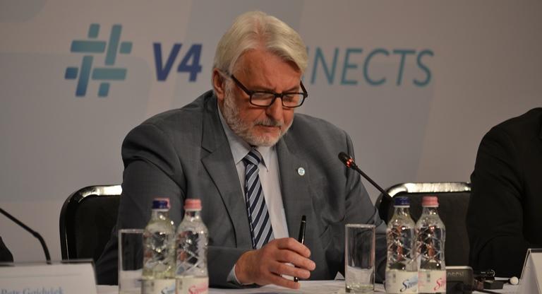 МинистрыМД Вышеградской четверки иВП провели встречу вБудапеште