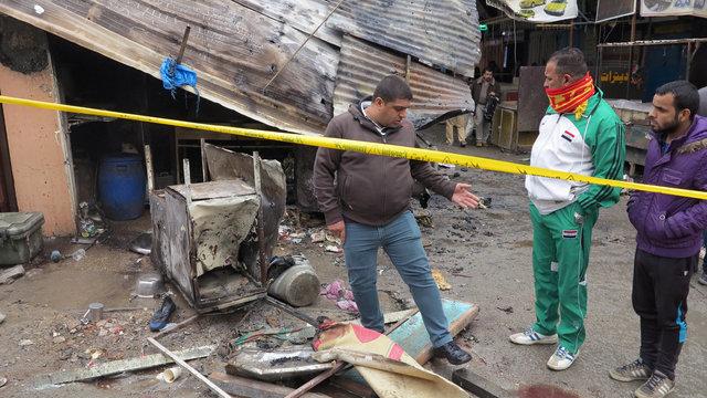 Момент взрыв вБагдаде попал навидео