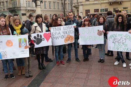 ВУкраинском государстве проходит марш заправа животных