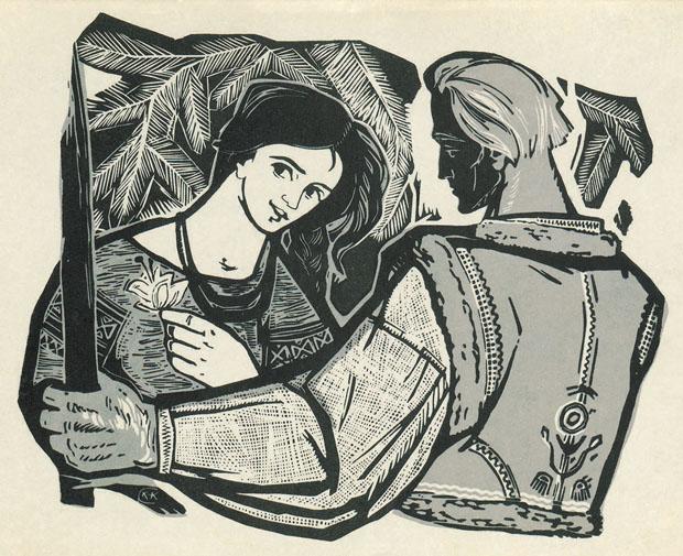 У Львові відкрилась виставка оригінальних робіт художниці графіка Софії Караффи- Корбут