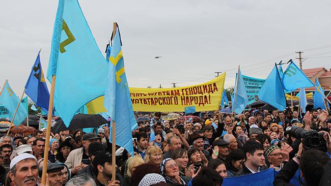 Активисты Марша солидарности скрымскотатарским народом приняли резолюцию