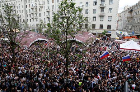 В российской столице задержаны неменее 100 человек